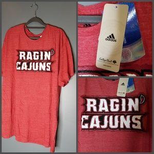 Louisiana Ragin Cajuns Adidas Graphic Tee 2X & L